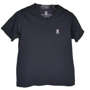 Psycho Bunny Black Pima Cotton T-Shirt Boys
